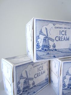 Vintage Summer Wedding Ice Cream Boxes Lot of 10 by VintageScraps, $30.00