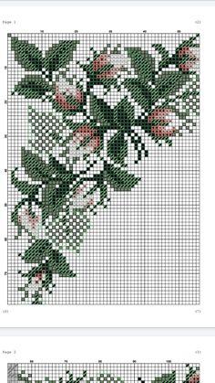 Cross Stitch Borders, Cross Stitch Rose, Cross Stitch Flowers, Cross Stitch Designs, Cross Stitching, Crossstitch, Cactus Plants, Knitting Patterns, Birds