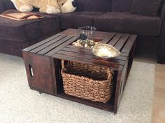 DIY Wood Crate Coffee Table Free Plans Instructions Crate