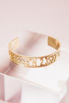 coordinate gold bracelet