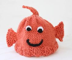 Goldfish Baby Hat Pattern | This baby hat knitting pattern is just too cute.