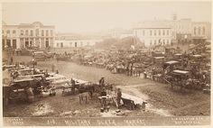 Military Plaza Market, San Antonio, Texas circa 1892