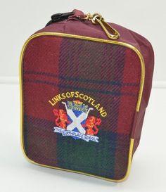 Links Of Scotland Plaid Golf Bag Zippered Pouch Clip Embroidered  #LinksofScotland