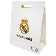 Real Madrid F C - large card gift bag - approx x - velcro fastening - official licensed Real Madrid, Soccer Birthday, Uk Football, Medium Bags, Large Bags, Gift Bags, Party Themes, Birthday Cards, Gift Wrapping