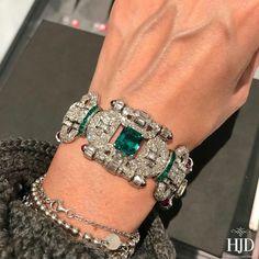 @sothebys #sothebysjewels #sothebys #ArtDeco #emerald #ruby #diamond #bracelet #HighJewelleryDream