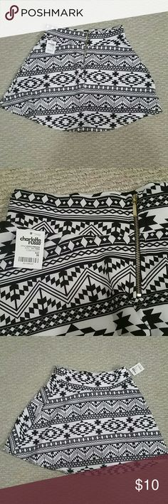 Nwt Charlotte Russe medium skater skirt Brand new with the tag  Size medium  Skater skirt  Thick strech  Price is firm  Don't do free shipping Charlotte Russe Skirts Circle & Skater