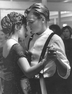 Jack and Rose dancing // titanic... Still one of my favorite movies ever!! And I love this particular scene!