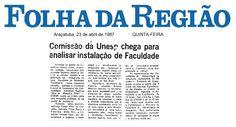 Comissão da Unesp chega para analisar instalação de Faculdade. Notícia referente aos estudos visando a implantação em Araçatuba de uma Faculdade de Medicina Veterinária, avaliada pela Comissão de Graduação da UNESP.