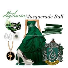 Slytherin: Masquerade Ball, created by nearlysamantha on Polyvore