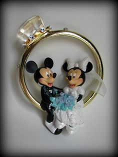 Saw this in Disney world spring break 2012 mickey & minnie cake topper