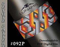 Peyote bracelet pattern, odd count, peyote pattern, stitch pattern, pdf file, pdf pattern, #092P