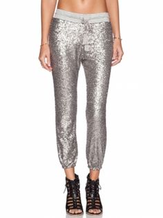 Fashion Sliver Sequins Shining Beauteous Leisure Pant