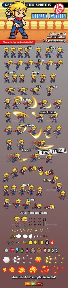 Game Character Sprite 15 Download here: https://graphicriver.net/item/game-character-sprite-15/10779507?ref=KlitVogli