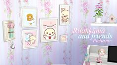 "milky-fairy:  Rilakkuma and Friends Pictures ♡ Hi cuties, so this is my first CC i made ever and i kinda liked it. ~ Some beautiful Rilakkuma & Korilakkuma pictures for your simmies. They come in 5 different swatches. You can find them in ""Paintings"" If they have any glitches or errors please send me a message. ~ Download 