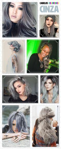26 inspirações de cabelo colorido: cinzas