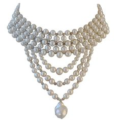 1stdibs - Elaborate Pearl Choker explore items from 1,700  global dealers at http://1stdibs.com