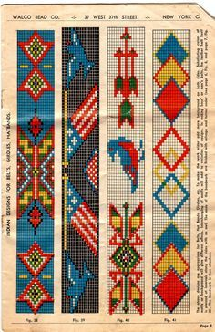 Embroidery native beadwork patterns loom native be Beading Patterns Free, Seed Bead Patterns, Peyote Patterns, Weaving Patterns, Cross Stitch Patterns, Beading Ideas, Jewelry Patterns, Jewelry Ideas, Cross Stitches