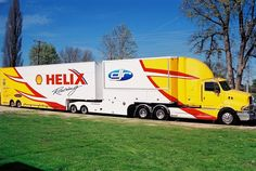 A history of Dick Johnson racing transporters. Nascar Trucks, Big Rig Trucks, Cool Trucks, Sterling Trucks, Course Automobile, Aussie Muscle Cars, Car Carrier, Road Train, Car Trailer
