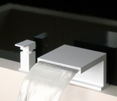 Deck mounted spout by Gessi.
