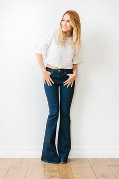 Flared jeans on Lauren Conrad
