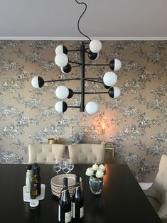 An attractive and exciting ceiling lamp made of white glass and matte black metal. Scandinavian Table Lamps, Scandinavian Kitchen, Kitchen Lamps, Kitchen Lighting, Ceiling Lamp, Ceiling Lights, Floor Lamp, Chandelier, Lighting Ideas