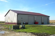 Lester Buildings Project x x commercial shop and office Pole Buildings, Shop Buildings, Steel Buildings, Pole Barn Garage, Pole Barns, Garage Plans, Garage Ideas, New Shed Ideas, Pole Barn Designs