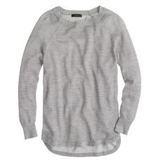 J.Crew Heathered linen high-low sweater