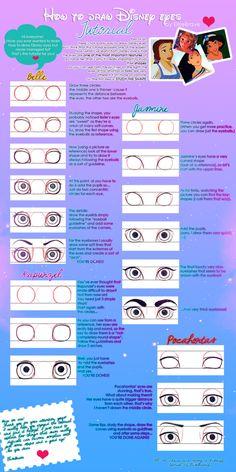 How to draw Disney eyes (tutorial) by ~EliseBrave on deviantART