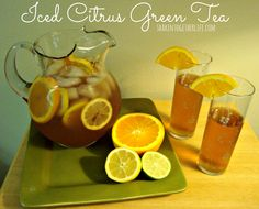 Iced Citrus Green Tea & Mother Daughter Spring Citrus Spa Day with World Market at shakentogetherlife.com