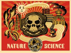 Shepard Fairey  Nature Science Gold