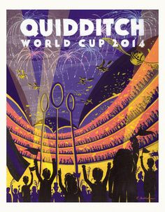 I actually really like purple and orange. I'm actually a big dork too. Harry Potter Quidditch world cup poster. Caroline Hadilaksono