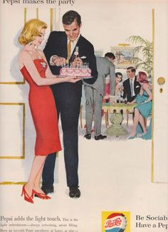 Look 1960 http://ohemv.com/look-1960-ads-of-the-past-part-ii/ #pepsi #vintage #madmen