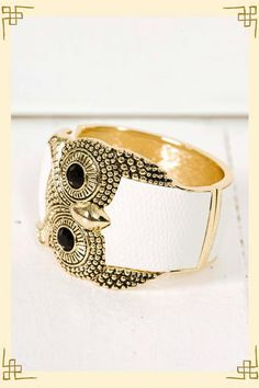 give a hoot owl cuff bracelet from Francesca's Collections: awesome boutique - even better selection in stores!!!
