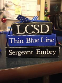 Thin Blue Line-personalized blocks Cop Wife, Police Officer Wife, Police Wife Life, Police Family, Leo Love, Love My Job, Wood Block Crafts, Wood Crafts, Police Crafts