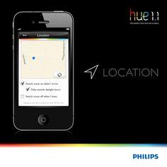 Philips Hue, Location