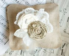 Items similar to Ring Bearer Pillow Burlap Pillow Rustic wedding decor Shabby Chic Country Ring Pillow, Vintage Wedding Pillow, choose flower colors on Etsy Ring Pillow Wedding, Wedding Pillows, Burlap Wedding Decorations, Burlap Weddings, Country Weddings, Ring Bearer Pillows, Burlap Pillows, Wedding Rings Vintage, Vintage Weddings