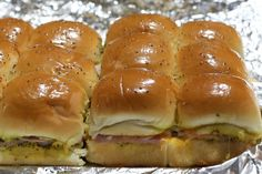 Baked Mississippi-Style Party Ham Rolls (Sliders)