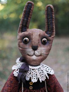 Купить Печеная Зая с яблочком))) - коричневый, Заяц в подарок, зая, заяц друзья тедди