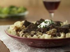 Beef Stroganoff Casserole (A casserole is any meal cooked in one container that has meat and vegetables. Oven or crock pot doesn't matter.) ~ Tender beef with noodles in a tangy cream sauce--so easy, so tasty.