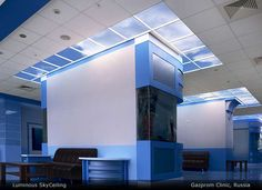 Sky Factory creates authentic illusions of nature for ceilings and walls with custom SkyCeiling tiles and Virtual Windows