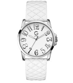 G by GUESS Patent Quilted Strap Watch, (watches, bling, guess watch, guess watches, swarovski crystals)