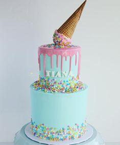 31 Super Ideas For Birthday Cake Kids Girls 1 Year Cake iDeas 🎂 3 Year Old Birthday Cake, Birthday Drip Cake, Toddler Birthday Cakes, 1st Year Cake, 7th Birthday Cakes, Novelty Birthday Cakes, Birthday Ideas, Birday Cake, Cupcake Cakes