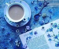 Blue book flatlay | Reading aesthetic