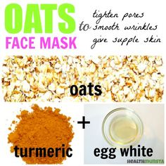 Tighten large pores using this easy anti-aging oats face mask that fights wrinkles