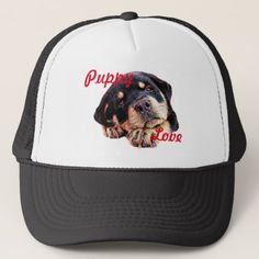 Rottweiler Puppy Love Rott Dog Canine German Breed Trucker Hat - dog puppy dogs doggy pup hound love pet best friend