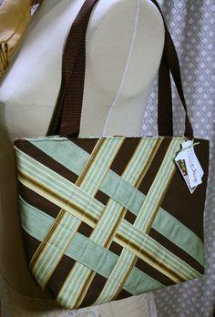 SALE Fabric Shoulder Bag Handmade Fabric Purse Canvas by sassygirl, $28.00
