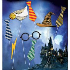 ~ Birthday Party Supplies Stationery Cards HARRY POTTER Mascots INVITATIONS 8