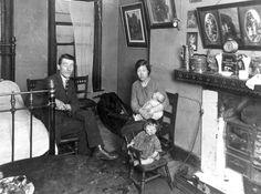 London slum scenes.  1930's.