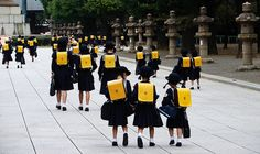 Japanese School Girls Going to School by shannonrossalbers, via Flickr
