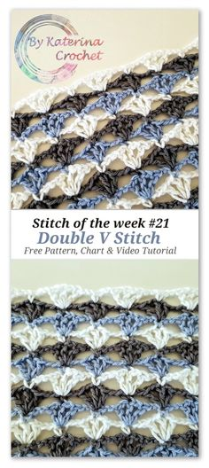 Double V Stitch: Free pattern, Chart & Video Tutorial